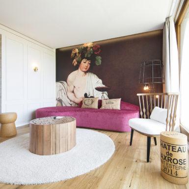 """Suite """"Great Bacchus"""". Imagen cedida por Robinson Club Cala Serena."""
